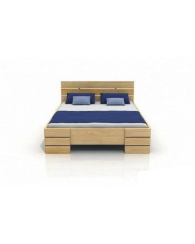 Borovicová posteľ Sandemo High
