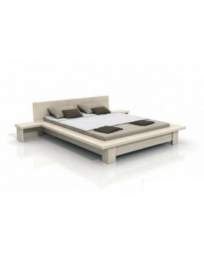 Masívna borovicová posteľ Bergen + nočné stolíky