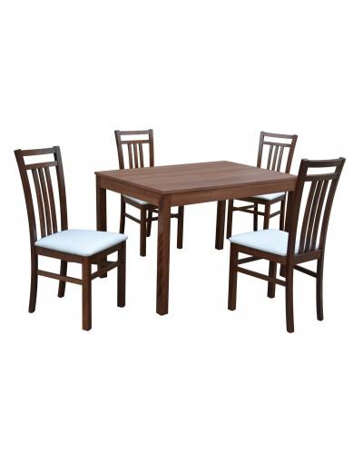 Stôl Bergamo pevný + 4x stolička GABON