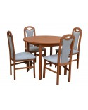 Stôl CORNO pevný + 4x stolička D125