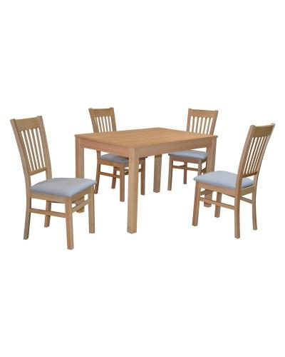 Stôl Bergamo + 4x stolička D 116