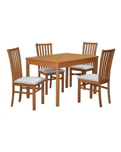 Zostava stôl BERGAMO + 4 ks stolička TOMAS