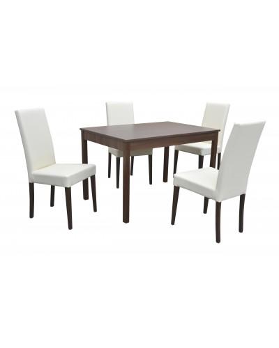 Stôl BERGAMO + 4ks Stolička D207