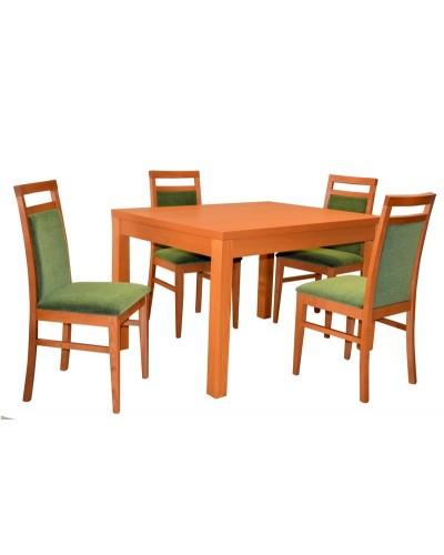 Stôl KETTY rozťahovací + 4x stolička ELTON