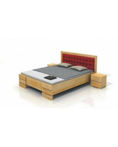 Čalúnená borovicová posteľ Gotland High