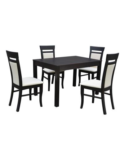 Stôl RAVENA1 ROZŤAHOVACÍ 1ks + D225 4ks