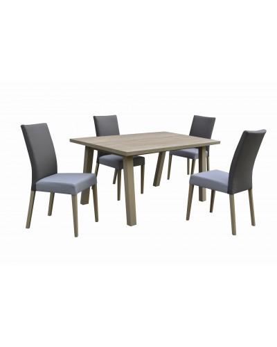 Stôl GRADO PEVNÝ 1ks + Stolička VIENA 4ks