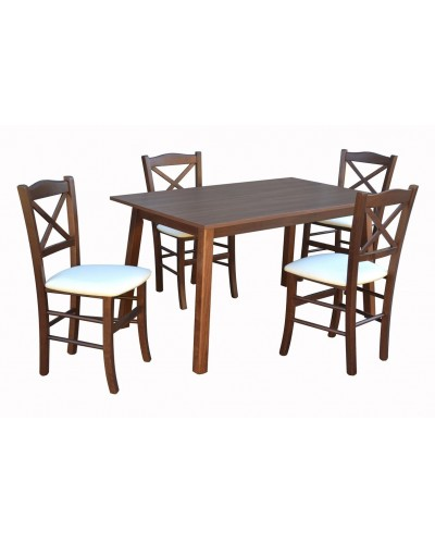 Stôl LEO ROZŤAHOVACÍ 1ks + Stolička D221 1 4ks