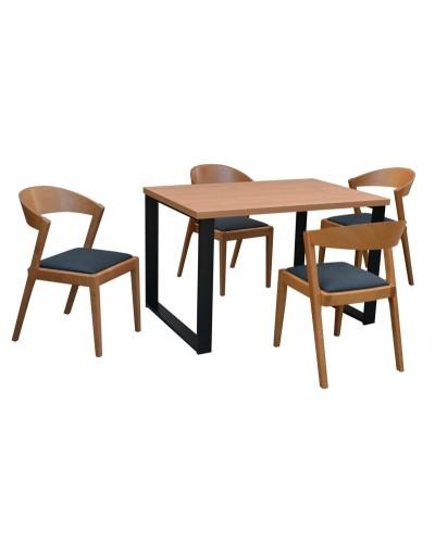 Stôl NOVA + 4x stolička ZANA