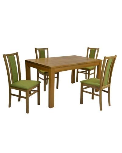 SERENA Dub masív + 4 ks stolička  D400 dub masív